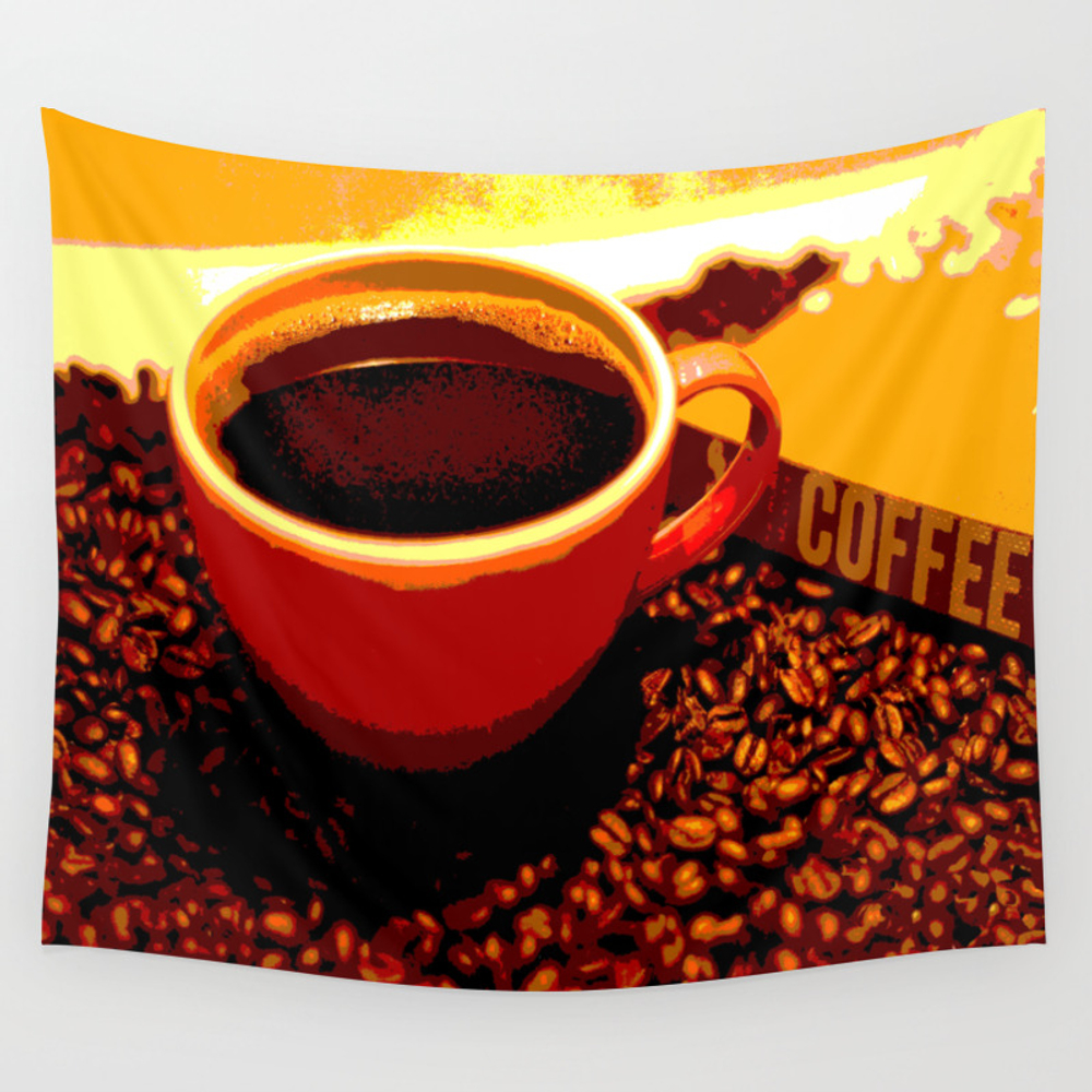 One Cup At A Time Wall Tapestry by Artbycleopatra TPS6816930
