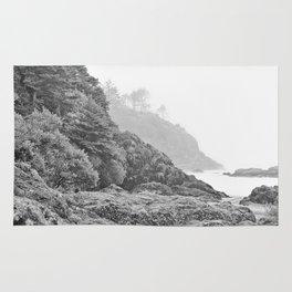 Washington Coast Mist Fog Shoreline Beach Pacific Ocean Long Beach Beards Hollow Forest Northwest Rug