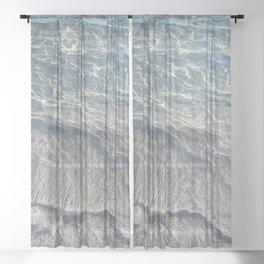 Water Photography Beach   Waves   Clear Water   Sea   Ocean Sheer Curtain