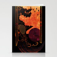 astronomy Stationery Cards featuring Muse of Astronomy  by Rack the Crown
