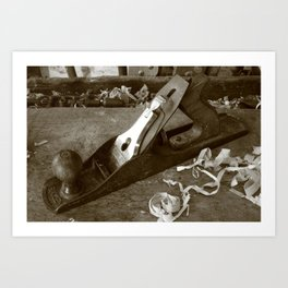 Carpentry tools Art Print