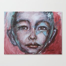 Star Boy Superhero Canvas Print