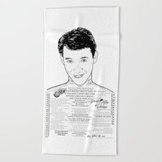 Save Ferris The Righteous Dude Beach Towel