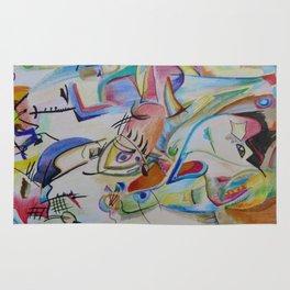 inspiration from Kandinsky . illustration . Rug
