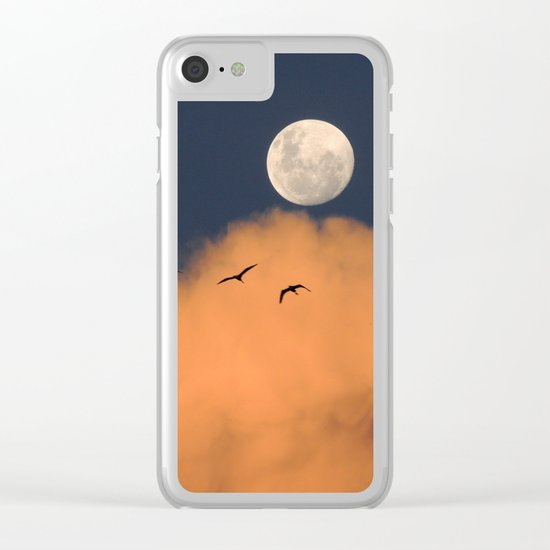 Moon cloud sky 7 Clear iPhone Case
