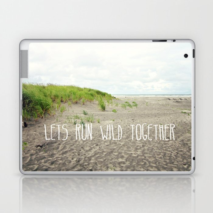 lets run wild together Laptop & iPad Skin