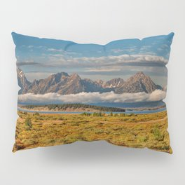 TheGrand Teton National Park in the Fall Panorama Pillow Sham