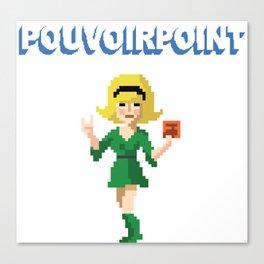 POUVOIRPOINT pixel Dominique (white) Canvas Print