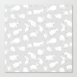 Charity fundraiser - Grey Goats Canvas Print