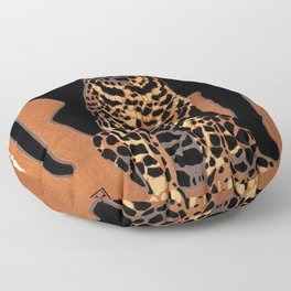 Vintage Munich Zoo Leopard 1912 Advertisement Floor Pillow