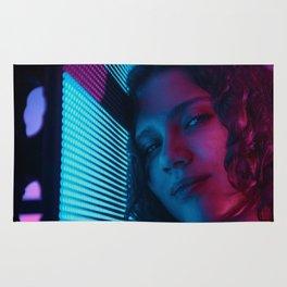 Gloria with Blade Runner lights Rug