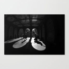 The Play Of Winter In Central Park Canvas Print