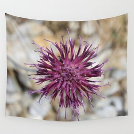 Purple Spiny Plumeless Thistle Wall Tapestry