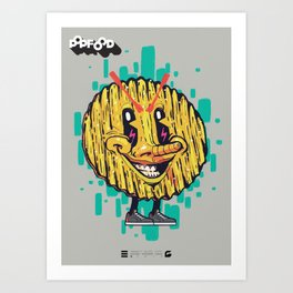 NAUGHTY SALTED CHIPS Art Print