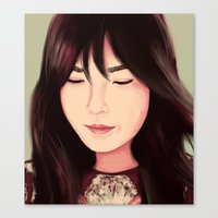 snsd Canvas Prints featuring Tae by Kayla Nicole