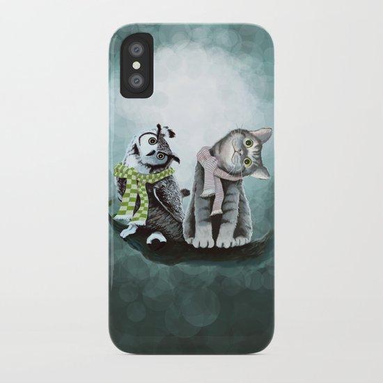 Cat and Owl iPhone Case