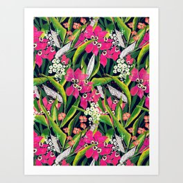 Lush Print- Magenta Art Print