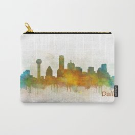 Dallas Texas City Skyline watercolor v03 Carry-All Pouch