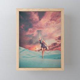 Fading into the Light Framed Mini Art Print
