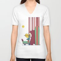 surf V-neck T-shirts featuring SURF by Ale Giorgini