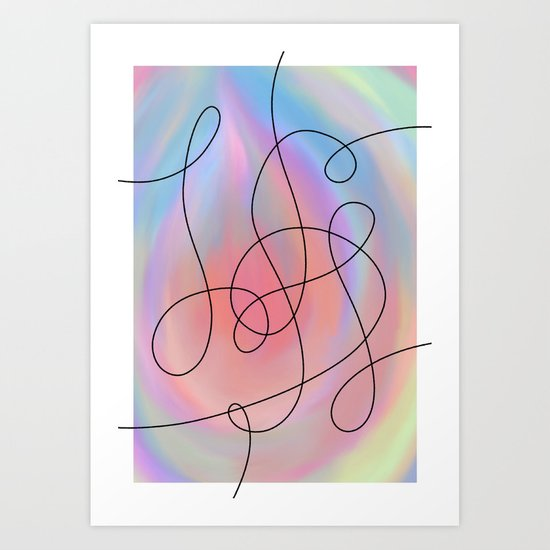 Colour Outside The Lines Art Print