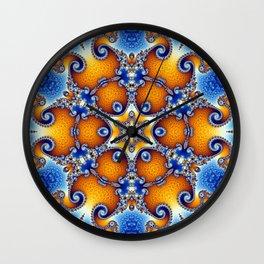 Ocean Life Mandala Wall Clock