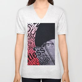 Anxiety in color Unisex V-Neck