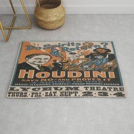 Vintage poster - Houdini - Do Spirits Return? Rug