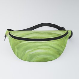 Agate II - Lime Green Watercolor Fanny Pack