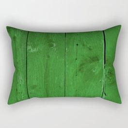 Green Wood Rectangular Pillow