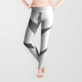 Three Heliconia black white Design Leggings