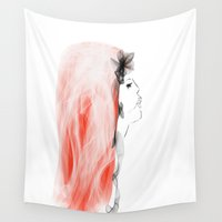 bride Wall Tapestries featuring Zombie Bride by Lynn Hope