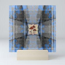 Shroom Forest Healing Mandala Mini Art Print