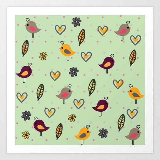 Cute Pattern #2 Art Print