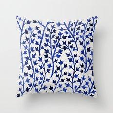 Porcelain Ivy Throw Pillow