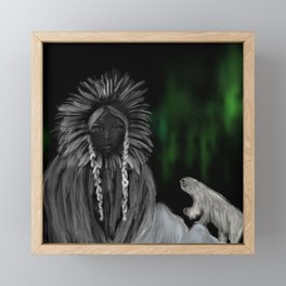 Eskimo-woman Framed Mini Art Print