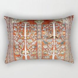 Silk Tabriz Northwest Persian Rug Rectangular Pillow