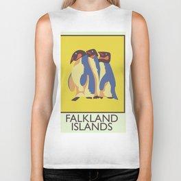 Falkland Islands travel poster Biker Tank