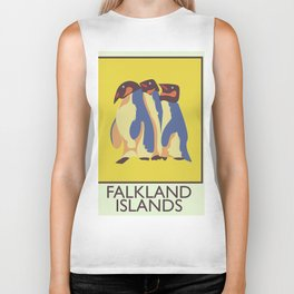 Falkland Islands travel poster Biker Tank