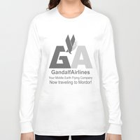 gandalf Long Sleeve T-shirts featuring Gandalf Airlines by Faniseto