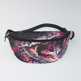 velociraptor dinosaur close up wsfn Fanny Pack