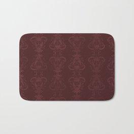 Carnivorous Damask (Crimson) Bath Mat