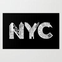 nyc Art Prints featuring NYC  by Robert Farkas