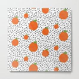 Polka Dot Oranges Metal Print