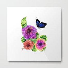 Painting of hibiscus Metal Print