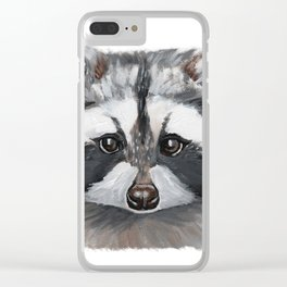 Rhubarb the Raccoon Clear iPhone Case