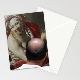 Painting Watching Person Stationery Cards