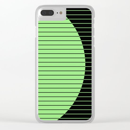 Opposites Attract (Abstract, green and black, geometric design) Clear iPhone Case
