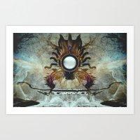 tarantula in different mode Art Print