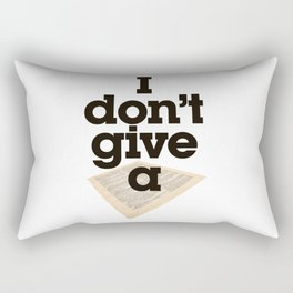 I don't give a sheet - by Genu WORDISIAC™ TYPOGY™ Rectangular Pillow